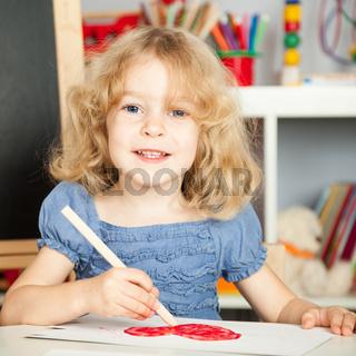 Child in class