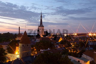 Panoramic view of Tallinn old city center