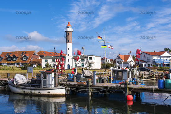 Fishing boat in the harbor on the island of Poel T