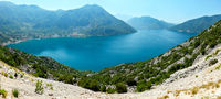 Bay of Kotor summer panorama,  Montenegro