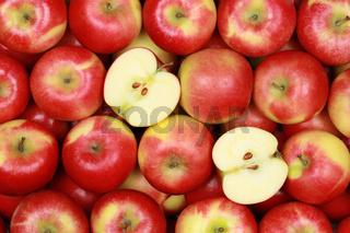 Äpfel bilden einen Hintergrund