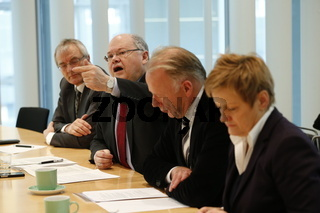 Press conference of The Green Party with Trittin and Kuenast about the reform of copyright.