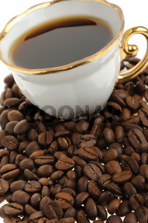 stylish coffee cup with seed