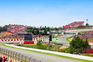 BARCELONA- MAY 9: Spectators on tribunes on The Formula 1 Grand Prix on may 9
