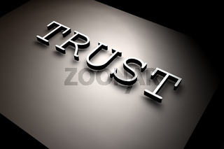 3D rendered TRUST text