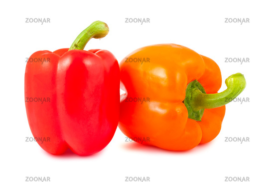 Orange and red pepper