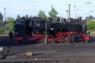 Restauration der Schmalspurbahn Dampflok