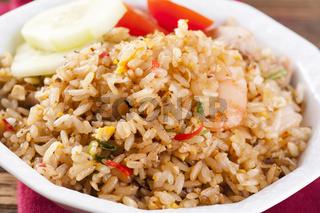 Nasi Goreng with shrimps and Egg