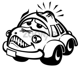 damaged car illustration
