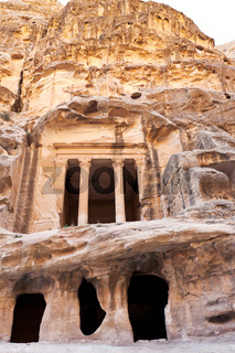 antique Nabatean Temple in Little Petra
