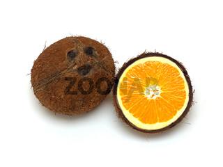 Kokosnuss und Orange / coconut and orange