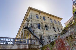 Prison Buildings of Alcatraz Island Prison