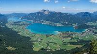 Lake Wolgangsee in Salzkammergut Austria