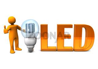 Orange LED OK