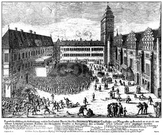 Homage to the Prussian estates, uprising in Koenigsberg, 18. Oct