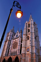 Spain: Cathedral of Leon by night