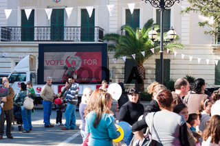 Election campaign in Gibraltar