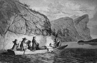 Grabfahrt auf einem See in Oberoesterreich