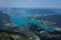 Lake Mondsee aerial perspective