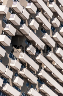 Modern hotel building detail