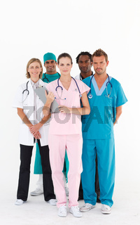 Confident team of doctors looking at the camera