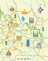 Geodesiс Map of The Country with Landmarks