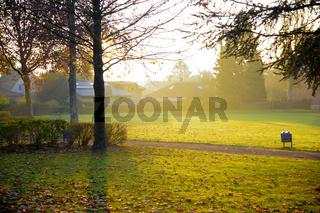 Park in der Morgensonne