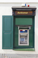 Green ATM cash dispense   device
