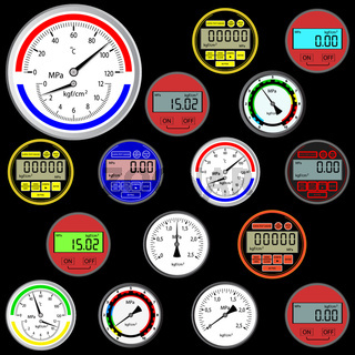 vector set of switches  and digital manometers