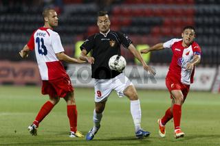 Honved vs. Vojvodina UEFA Europa League football game