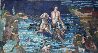 Wandmosaik. Historische Villa San Marco