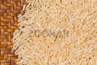 Brown rice close up