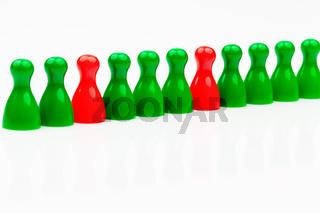 Rot-grüne Koalitions Regierung