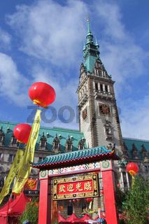 China Time beim Hamburger Rathaus