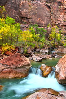 Virign River Waterfall in Utah