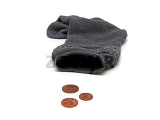 Sparstrumpf / money sock