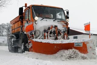 Einsatz des Winterdienstes in Leipzig.
