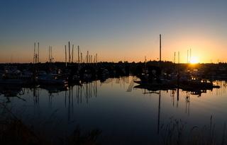 Fischereihafen in Charleston (Oregon)