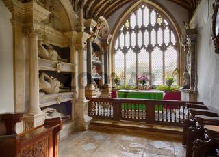 Interior of St Mary Church Swinbrook