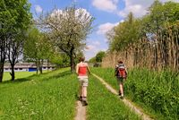Walking in Ludwig Kanal with Berching, Bavaria, Ge