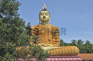 Höchste Buddhastatue von Sri Lanka, Tempel Wewurukannala Vihara, Dikwella, Sri Lanka, Asien