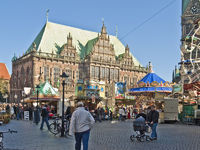 Small Free Fair at Bremen Market Place, Germany