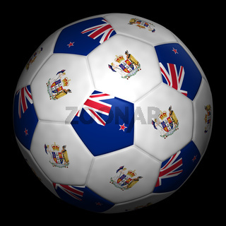 Fussball mit Fahne Neuseeland