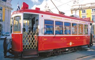 Nostalgische Electrico in Lissabon
