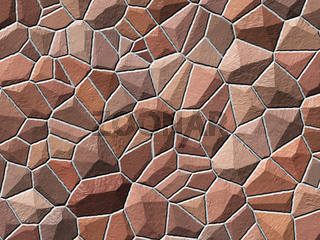 Abstract generated stone wall shiny surface background