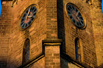 Kirchturm St. Martin, Schiffweiler, Saarland, D