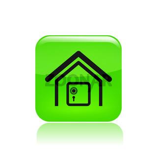Vector illustration of single bank icon