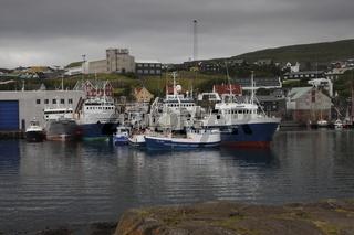 Tórshavn harbour. Faroe Islands