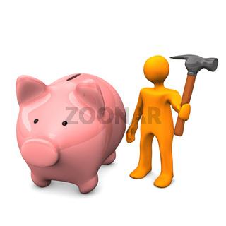 Manikin Piggy Bank