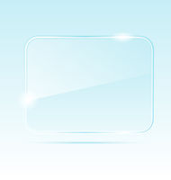 abstract transparent glass banner